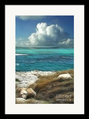Caribbean Sea Framed Prints