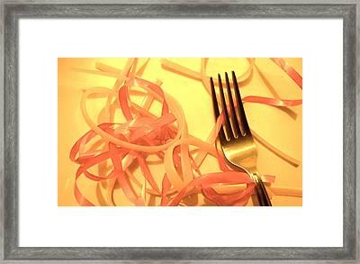 Noodlesribbons Framed Print