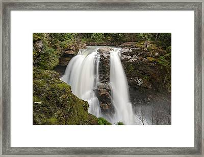 Nooksack Falls Framed Print by Crystal Hoeveler
