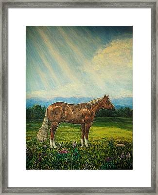 Noon Day Repose Framed Print by Sharon Avery