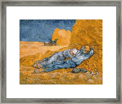 Noon The Siesta After Millais Framed Print by Philip Ralley