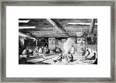 Nootka Dwelling, 1778 Framed Print by Granger
