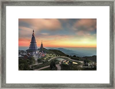 Noppha Methanidon-noppha Phon Phum Siri Stupa Framed Print