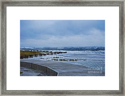 Nor Easter Framed Print by Skip Willits