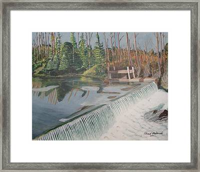 Nora Mill Waterfall Framed Print