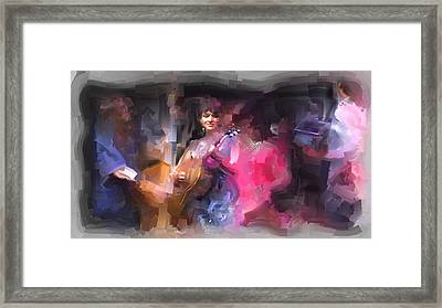 Norah Jones Framed Print by Usha Shantharam