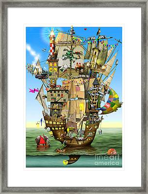Norah's Ark Framed Print by Colin Thompson