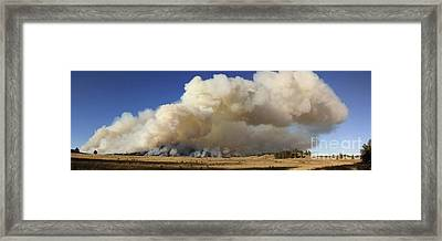 Norbeck Prescribed Fire Smoke Column Framed Print