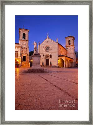 Norcia Umbria Framed Print by Brian Jannsen