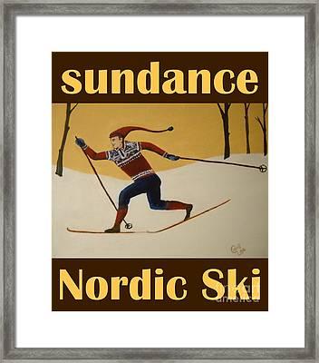 Nord Ski Poster Framed Print