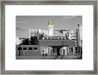Framed Print featuring the photograph Nordbahnhof Station In Berlin by Art Photography