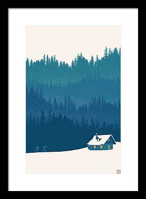 Woods Paintings Framed Prints