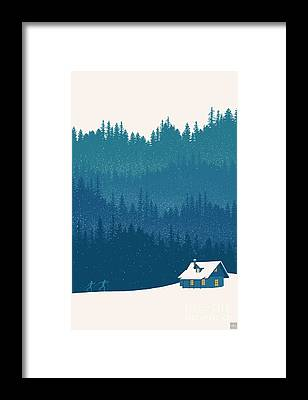 Woods Framed Prints