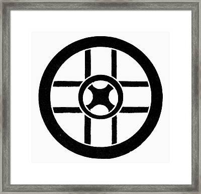 Nordic Symbol Wheel Cross Framed Print by Granger