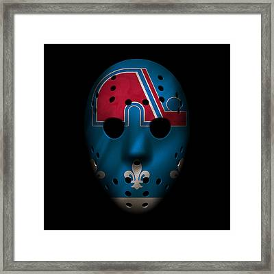 Nordiques Jersey Mask Framed Print by Joe Hamilton