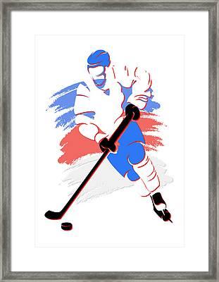 Nordiques Shadow Player2 Framed Print