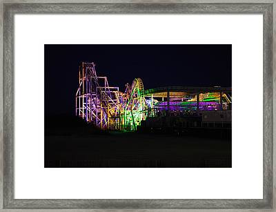 Framed Print featuring the photograph Nor'easter At Night by Greg Graham