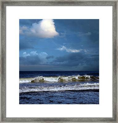 Nor'easter Blowin' In Framed Print by William Sargent
