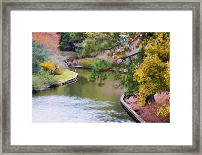 Norfolk Botanical Gardens Canal 7 Framed Print by Lanjee Chee