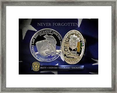Norfolk Police Memorial Framed Print by Gary Yost