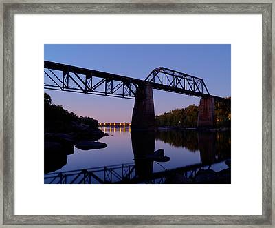 Norfolk-southern Crossing-1 Framed Print