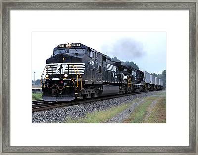 Norfolk Southern Pig Train Framed Print