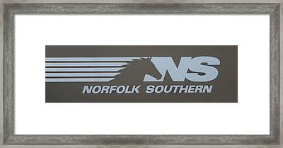 Norfolk Southern Railway Framed Print by Reid Callaway