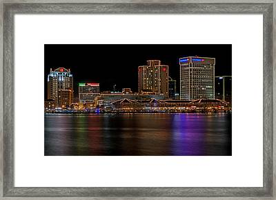 Norfolk Virginia Skyline Framed Print