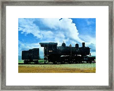 Norfolk Western Steam Locomotive 917 Framed Print by Janette Boyd
