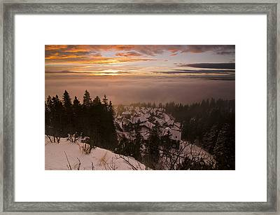 Norge Framed Print by Aaron Bedell