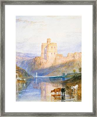 Norham Castle An Illustration To Marmion By Sir Walter Scott Framed Print by Joseph Mallord William Turner