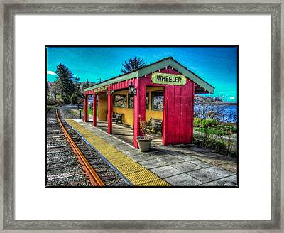 Framed Print featuring the photograph Norm Laknes Train Station by Thom Zehrfeld