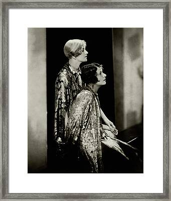 Norma And Constance Talmadge Framed Print by Edward Steichen