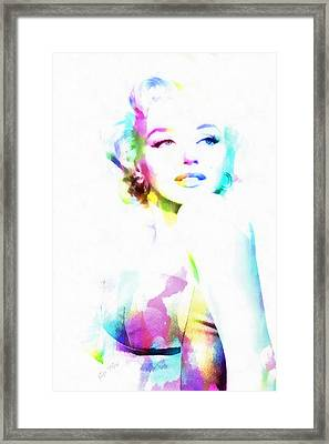 Norma Jeane In Watercolor Framed Print by Eti Reid