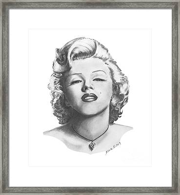 Norma Jeane Framed Print by Marianne NANA Betts