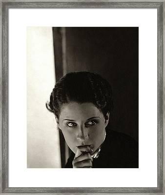 Norma Shearer As Kothe Of Old Heidelberg Framed Print by Edward Steichen