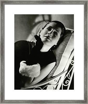 Norma Shearer On A Chair Framed Print by Edward Steichen