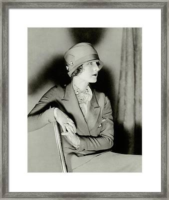 Norma Shearer Wearing A Cloche Hat Framed Print by Charles Sheeler