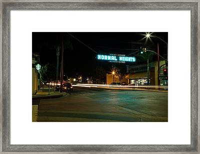 Normal Heights Neon Framed Print