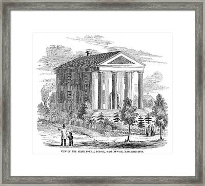 Normal School, 1853 Framed Print by Granger