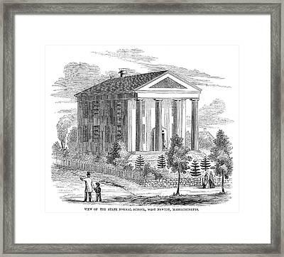 Normal School, 1853 Framed Print by Granger