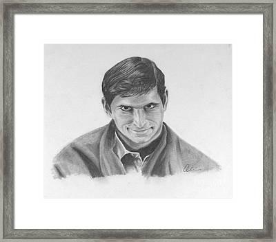 Norman Bates Portrait Framed Print