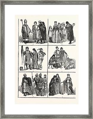Norman Costumes Of The Eleventh And Twelfth Centuries 1 Framed Print