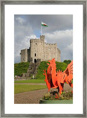 Norman Keep Cardiff Castle Framed Print by Jeremy Voisey