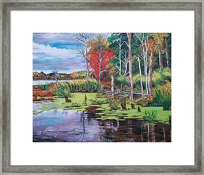 Norman Lake  Framed Print by Sharon Duguay