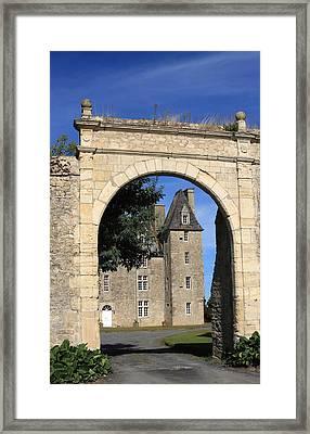 Norman Manor Arched Door Framed Print by Aidan Moran