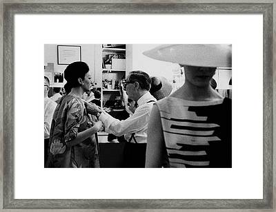 Norman Norell Backstage Framed Print by Bert Stern