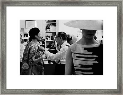 Norman Norell Backstage Framed Print