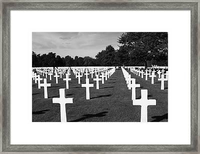 Second World War Cemetery Framed Print by Aidan Moran