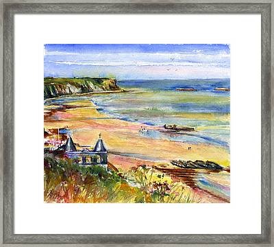 Normandy Beach Framed Print